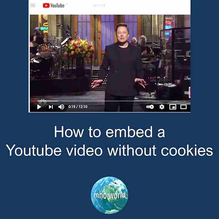 Wie man youtube videos ohne cookie einbinden kann.