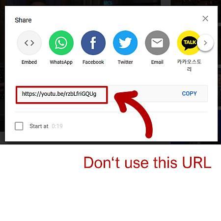 Share Button klicken: verwenden Sie nicht den Standarslink